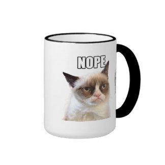 Caneca mal-humorada de Cat™ NOPE