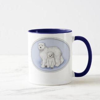 Caneca Mamã e Cub do urso polar