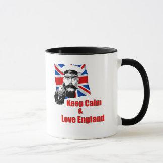 Caneca Mantenha a calma e ame Inglaterra