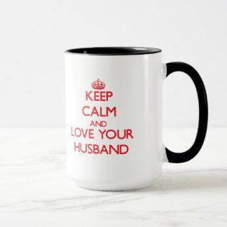 Caneca Mantenha a calma e ame seu marido