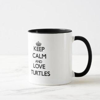 Caneca Mantenha a calma e ame tartarugas