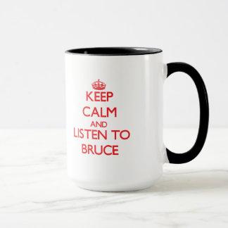 Caneca Mantenha a calma e escute Bruce