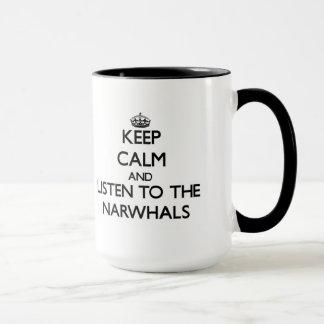 Caneca Mantenha a calma e escute o Narwhals