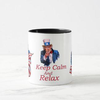 Caneca Mantenha a calma e relaxe