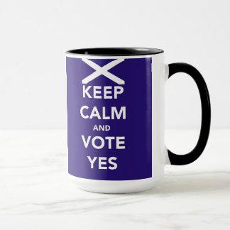 Caneca Mantenha a calma e vote sim