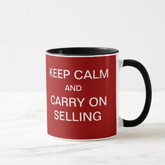 Caneca … Mantenha a calma para continuar vender o slogan