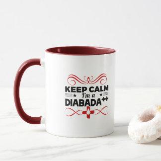 Caneca Mantenha calmo mim são Diabada ++ - Diabético