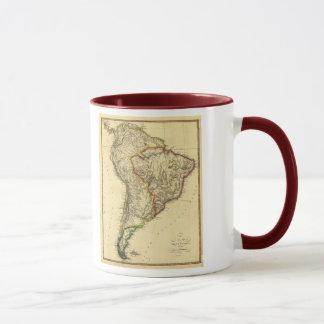 Caneca Mapa 1817 de Ámérica do Sul