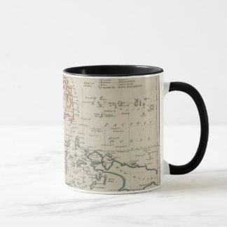 Caneca Mapa antigo de 3Sudeste Asiático, caneca/copo