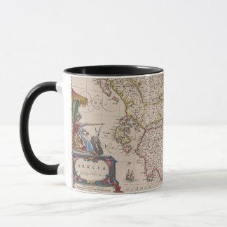 Caneca Mapa antigo de Græcia (Italia do sul), caneca/copo