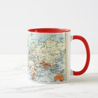 Caneca Mapa comercial antigo do mundo