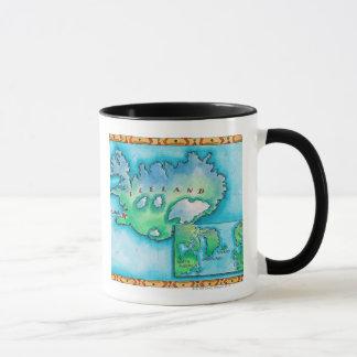 Caneca Mapa de Islândia