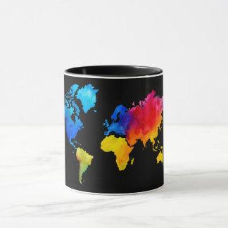 Caneca Mapa de mundo