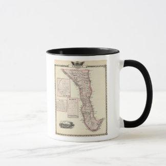 Caneca Mapa do Condado de Calhoun, Winchester