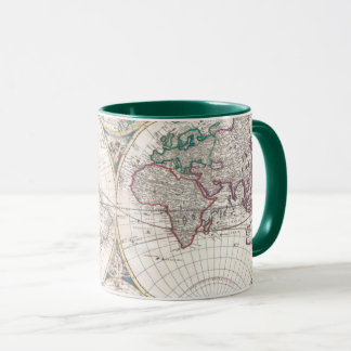 Caneca Mapa do mundo antigo do Dobro-Hemisfério