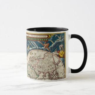 Caneca Mapa do mundo antigo do século XVII, caneca/copo