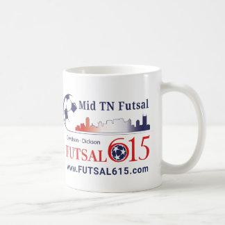 Caneca média do ⚽ de Tennessee Futsal do ⚽ de