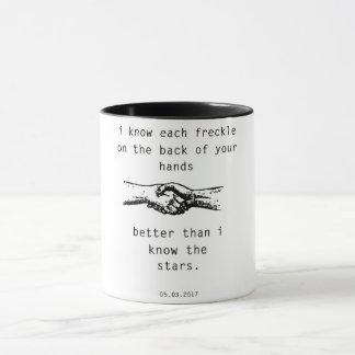 Caneca Melhor do que eu sei as estrelas