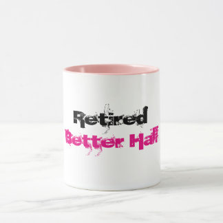 Caneca Melhor metade aposentada -