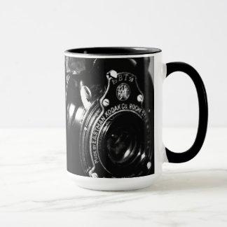 Caneca Memórias uma câmera de dobradura de Kodak do