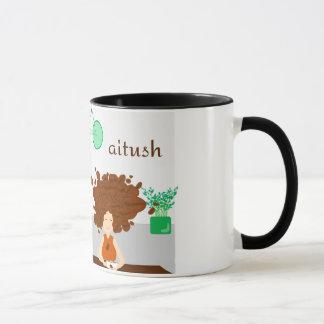 Caneca Menina do feijão de café