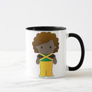Caneca Menina jamaicana pequena