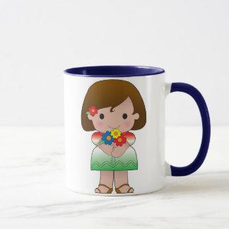 Caneca Menina mexicana pequena