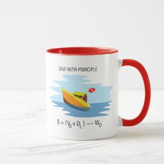 Caneca Mergulho com princípio de Archimedes