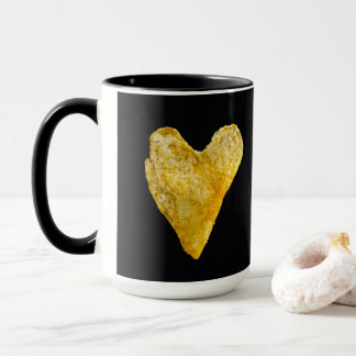 Caneca Microplaqueta de batata dada forma coração