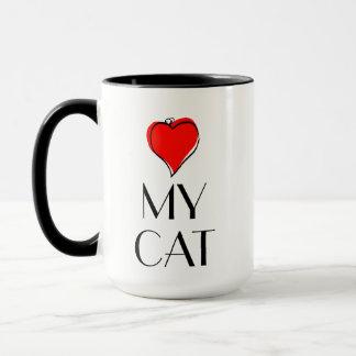 Caneca Mim coração meu gato