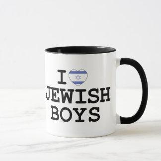 Caneca Mim meninos judaicos do coração