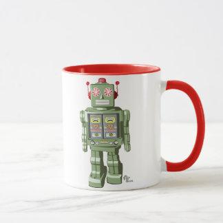 Caneca Minty do robô do brinquedo