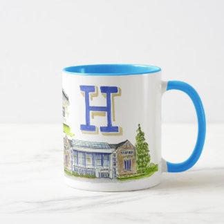 Caneca Mistura da faculdade de Hamilton das construções