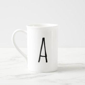 Caneca moderna do monograma de Gifting do alfabeto