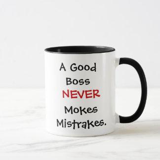Caneca Mokes Mistrakes bons de um chefe nunca!