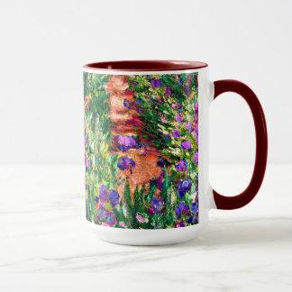Caneca Monet - o jardim da íris em Giverny