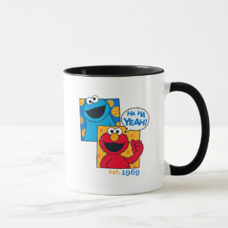 Caneca Monstro & Elmo do biscoito | Ha Ha yeah