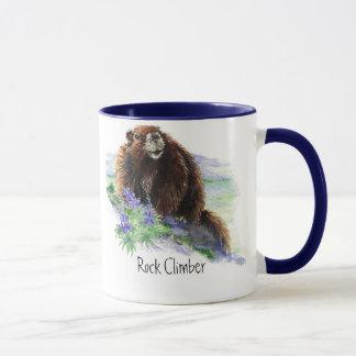 Caneca Montanhista de rocha - marmota - animal