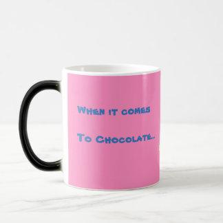 Caneca Morphing cor-de-rosa do chocolate do coelho
