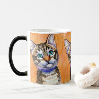 Caneca Morphing do gato de gato malhado do Sprite