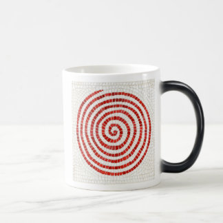 Caneca Morphing do mosaico do Pinwheel