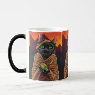 Caneca Morphing mágica do gato do vampiro