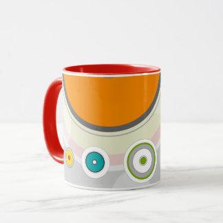 Caneca Mug with lines and colored circles