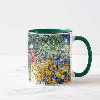 Caneca Na pintura da mulher de Claude Monet do jardim