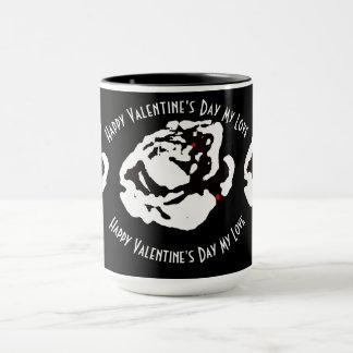 Caneca Namorados do rosa branco