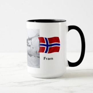 """Caneca Nansen com o """"Fram"""" no gelo"""