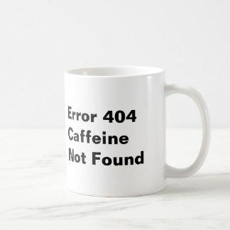 Caneca não encontrada da cafeína do erro 404