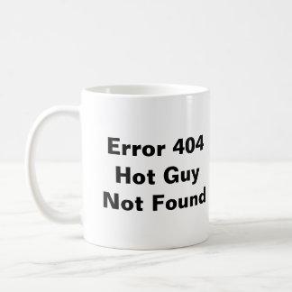 Caneca não encontrada quente da cara do erro 404
