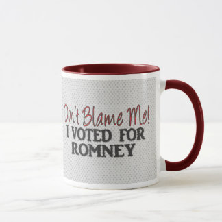 Caneca Não me responsabilize, mim votou para Romney