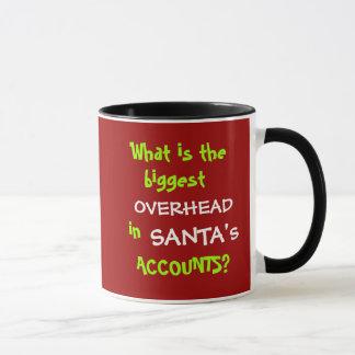 Caneca Natal da contabilidade e piada engraçados do papai
